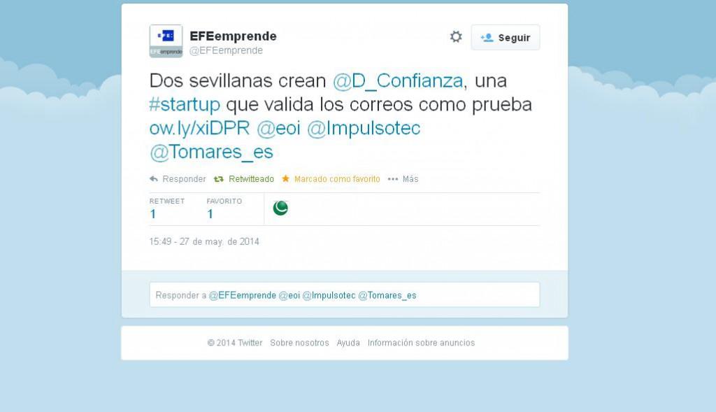 tuit agencia efe dedicado a DConfianza