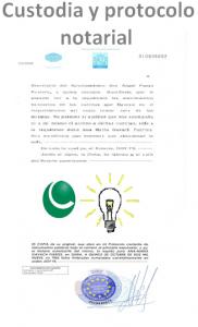 Protocolo notarial de la idea