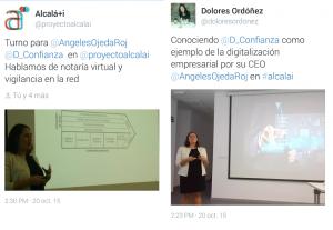 Momentos de la presentación, sobre digitalización de la CEO de DConfianza. Mari Ángeles Ojeda