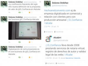 Algunos de los tuits que se publicaron durante la ponencia sobredigitalización.